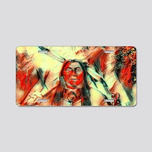 Red Feather Chief Aluminum License Plate