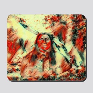 Red Feather Chief Mousepad