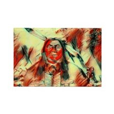 Red Feather Chief Rectangle Magnet