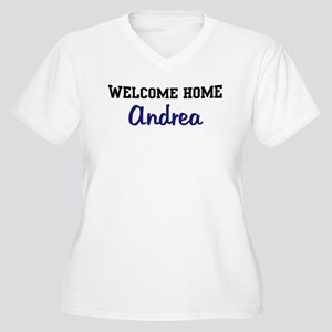 Welcome Home Andrea Women's Plus Size V-Neck T-Shi