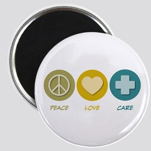 Peace Love Care Magnet
