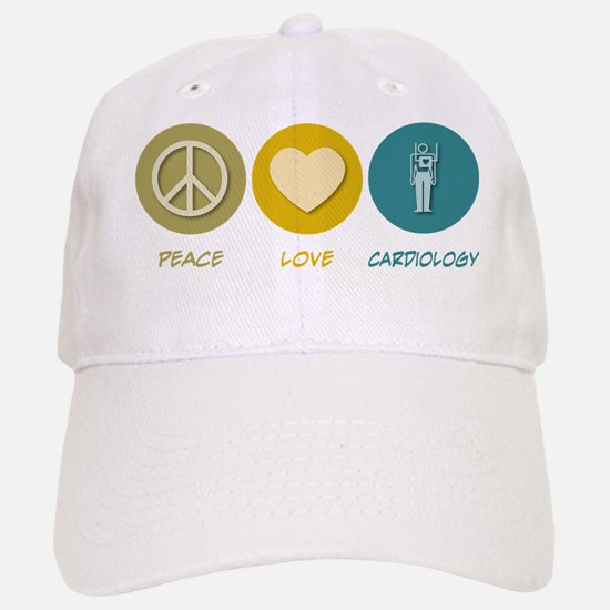 Peace Love Cardiology Baseball Baseball Cap