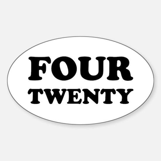 FOUR TWENTY Oval Decal