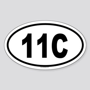 11C Oval Sticker