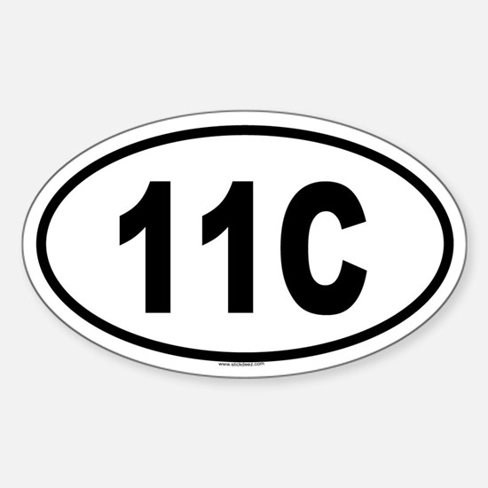 11C Oval Decal