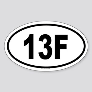 13F Oval Sticker