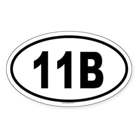 11B Oval Sticker