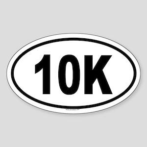 10K Oval Sticker