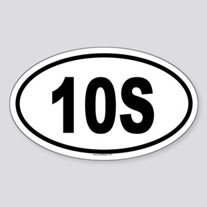 10S Oval Sticker