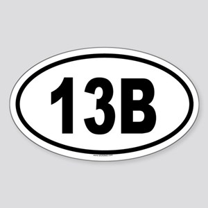 13B Oval Sticker