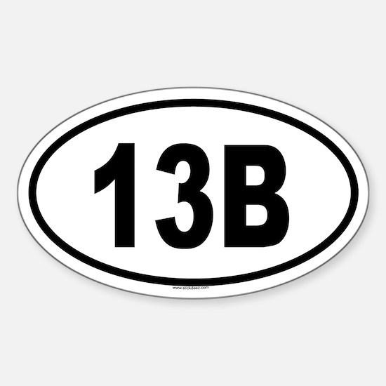 13B Oval Decal