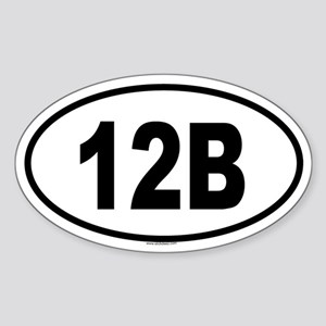 12B Oval Sticker