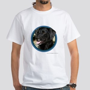 Black Lab Art White T-Shirt