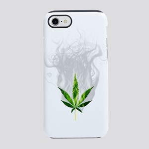 Smoked out weed leaf iPhone 8/7 Tough Case