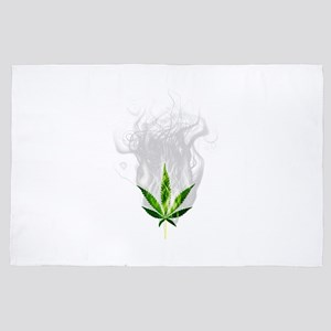Smoked out weed leaf 4' x 6' Rug