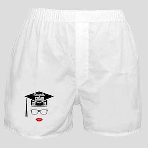 congrats grad 2018 girl Boxer Shorts