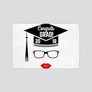 congrats grad 2018 girl 4' x 6' Rug