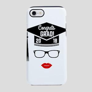 congrats grad 2018 girl iPhone 8/7 Tough Case