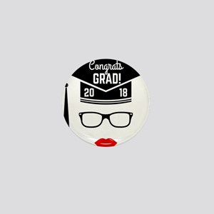 congrats grad 2018 girl Mini Button