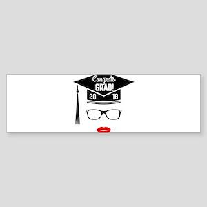 congrats grad 2018 girl Bumper Sticker