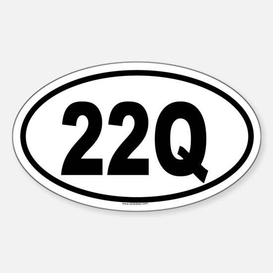 22Q Oval Decal