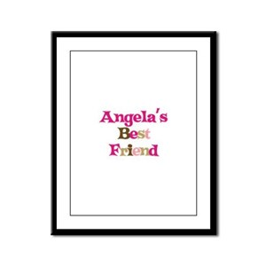 Angela 's Best Friend Framed Panel Print