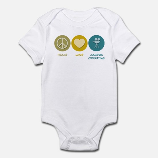 Peace Love Camera Operating Infant Bodysuit