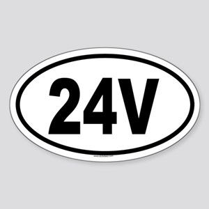 24V Oval Sticker