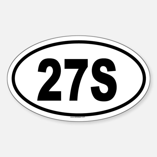 27S Oval Decal