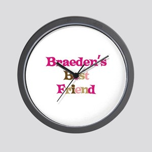 Braeden's Best Friend Wall Clock