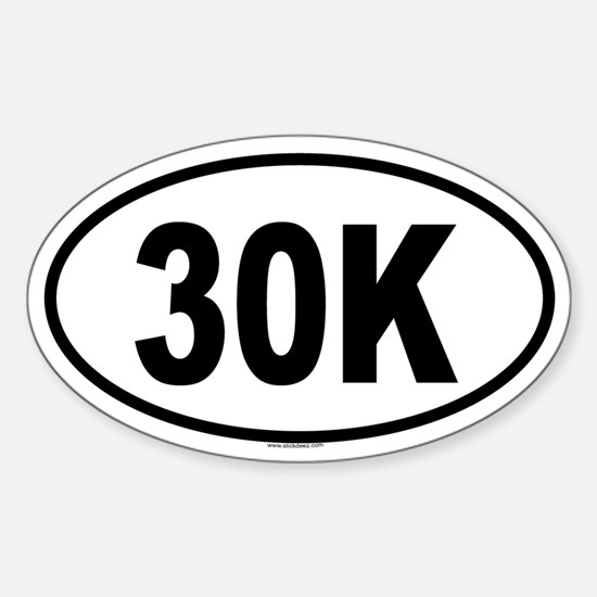 30K Oval Decal