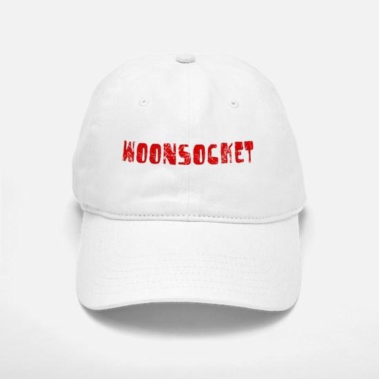 Woonsocket Faded (Red) Baseball Baseball Cap