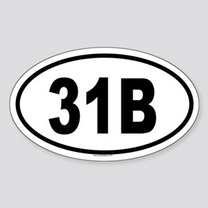 31B Oval Sticker
