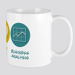 Peace Love Business Analysis Mug