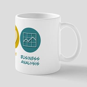 Peace Love Business Analysis Mug