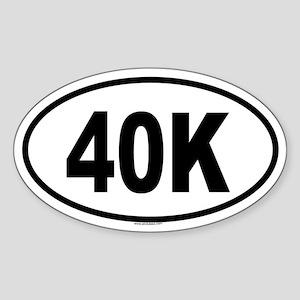 40K Oval Sticker