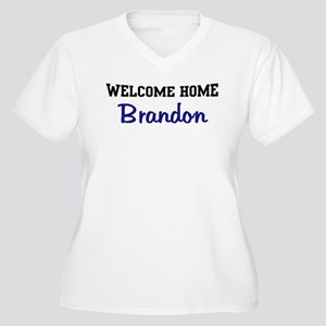 Welcome Home Brandon Women's Plus Size V-Neck T-Sh
