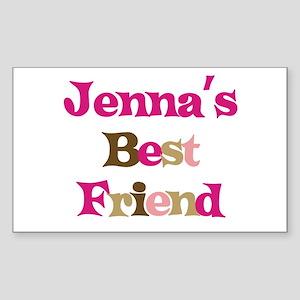 Jenna 's Best Friend Rectangle Sticker