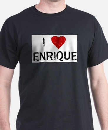 I Heart ENRIQUE (Vintage) Ash Grey T-Shirt