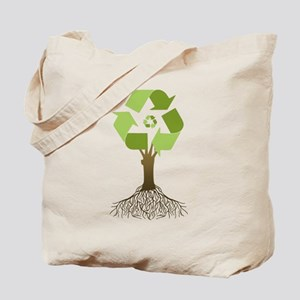 Recycling Tree Tote Bag