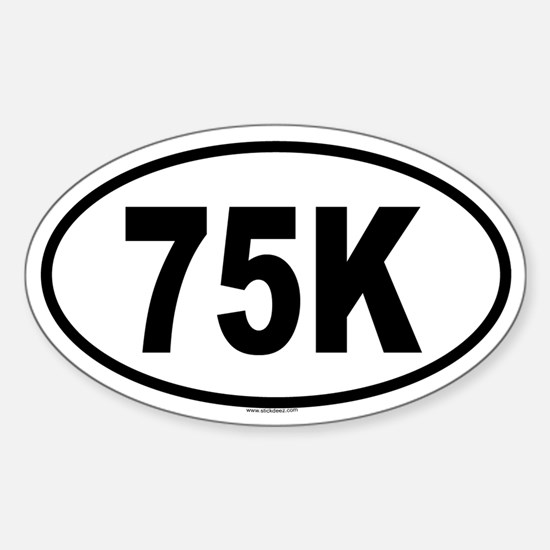75K Oval Decal