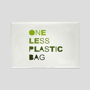 One less plastic bag Rectangle Magnet