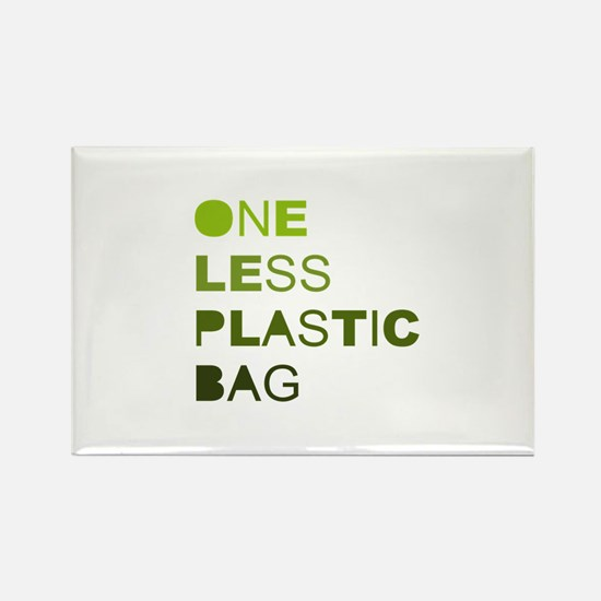 One less plastic bag Rectangle Magnet