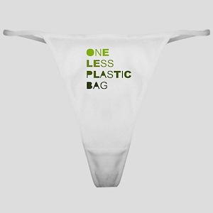 One less plastic bag Classic Thong