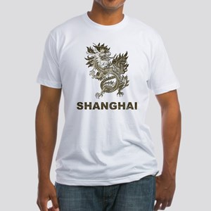 Vintage Shanghai Dragon Fitted T-Shirt