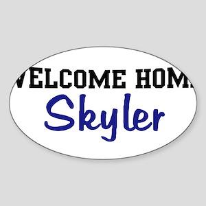 Welcome Home Skyler Oval Sticker