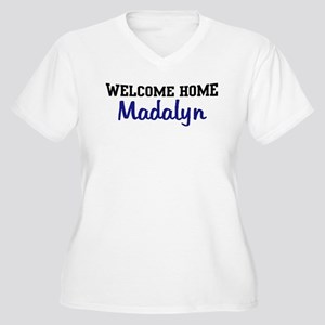 Welcome Home Madalyn Women's Plus Size V-Neck T-Sh