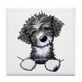 Portuguese water dog tile Tile Coasters