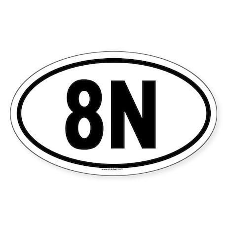 8N Oval Sticker