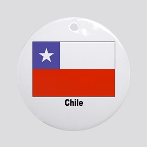 Chile Chilean Flag Keepsake (Round)